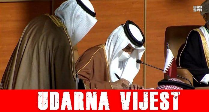 Katatrski Emir šeik Tamim, i Saudijski princ potpisali deklaraciju Al-Ula o okončanju trogodišnje krize GCC-a!